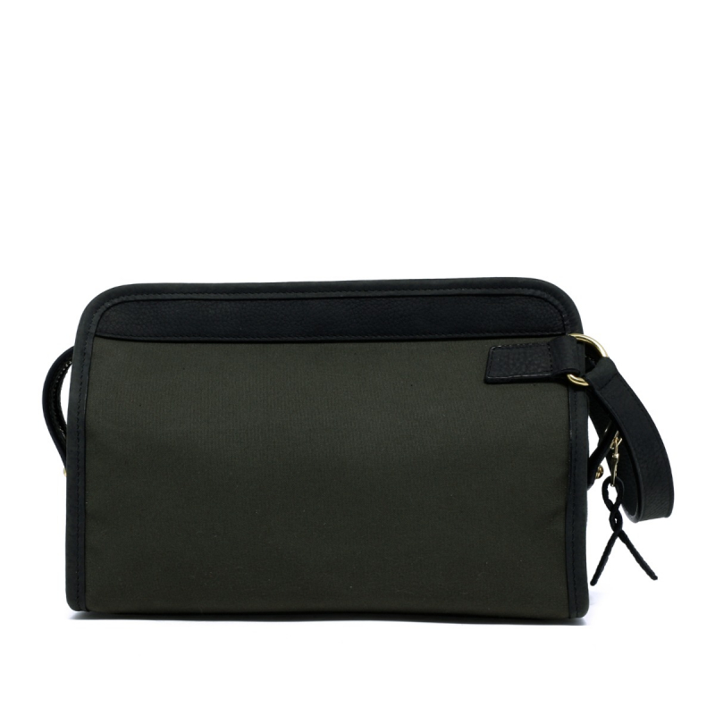 Large Travel Kit - Dark Olive/Dark Green - Canvas in