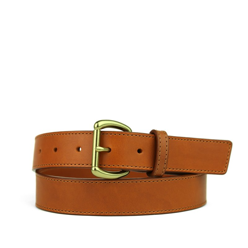 Casual Leather Belt in Harness Belting Leather