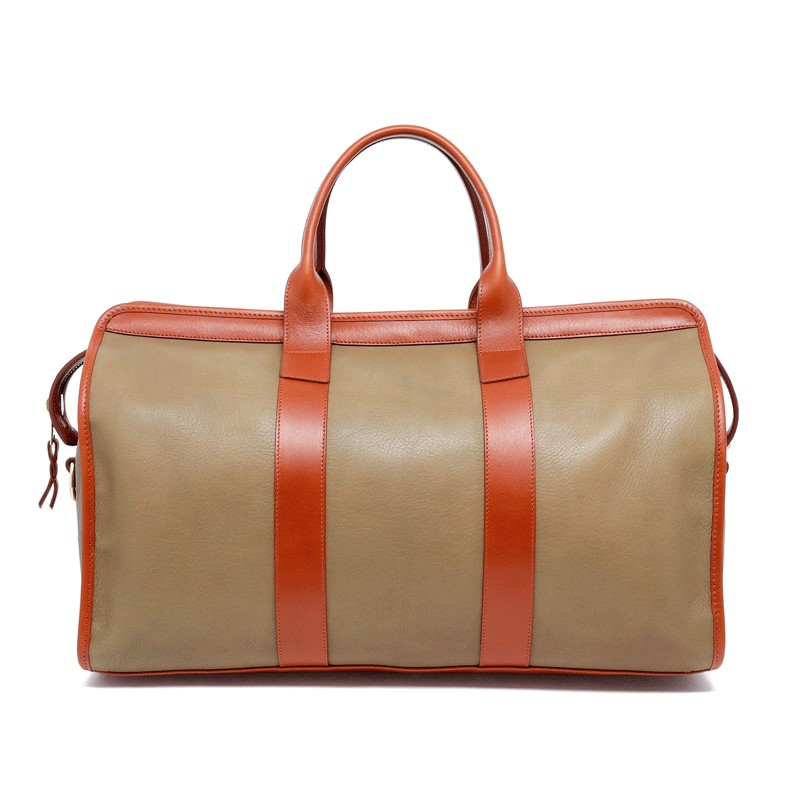 Signature Duffle - Moss Green/Cognac - Soft Tumbled Leather in