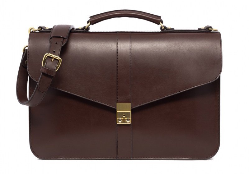 Lock Briefcase-Chocolate in