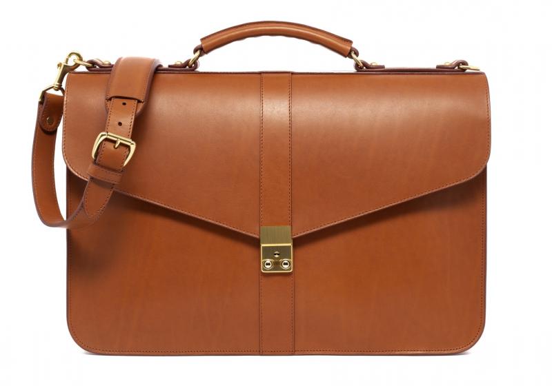 Lock Briefcase-Cognac in