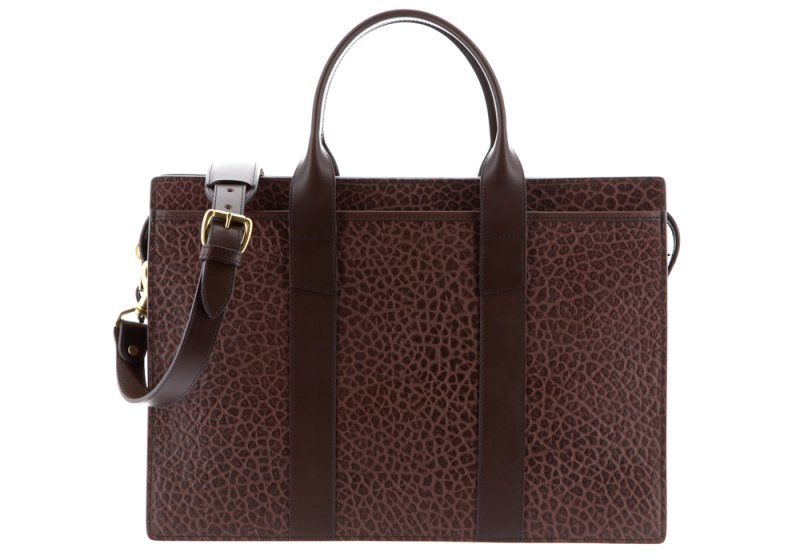 ZIP-TOP BRIEFCASE-Chocolate-Single in