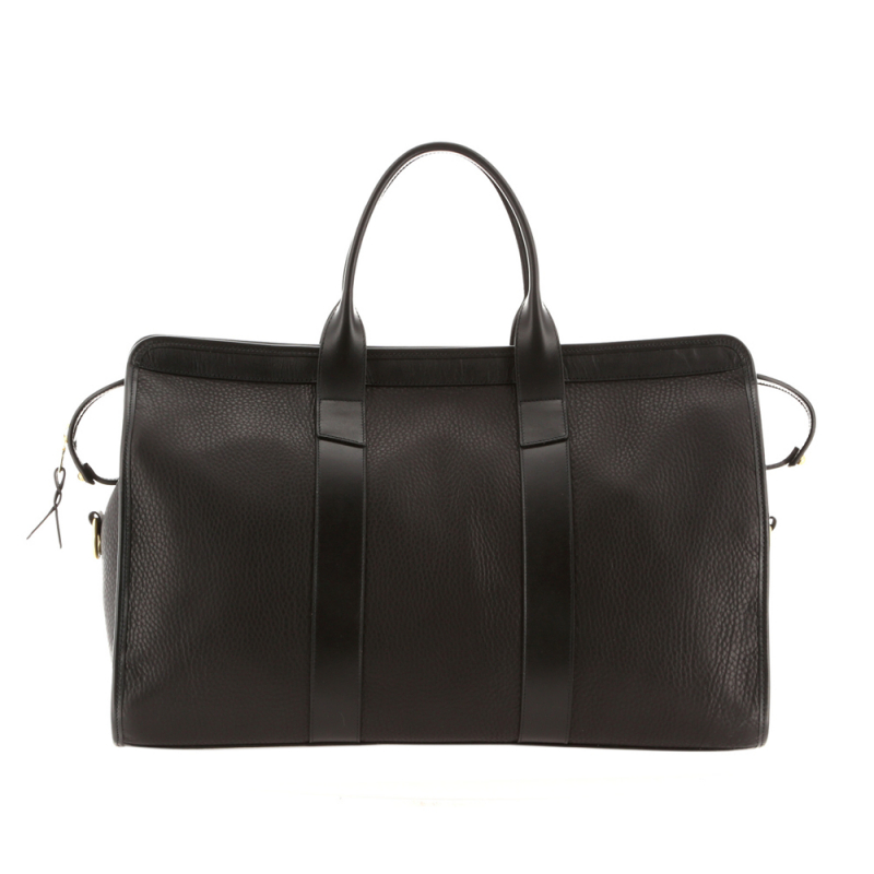 Signature Duffle - Black - Soft Pebbled Leather