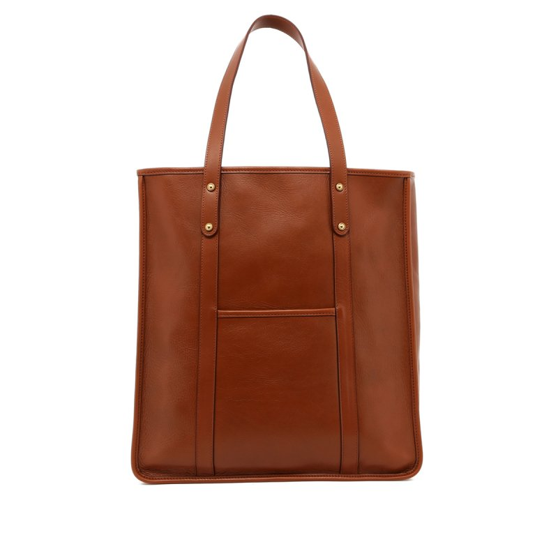 Leather Market Tote in Smooth Tumbled Leather