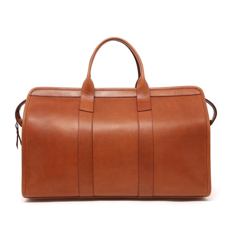 Signature Travel Duffle - Cognac - Hatch Grain Leather in