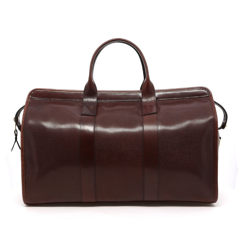 Signature Travel Duffle - Dark Brown - Stingray Print Leather in