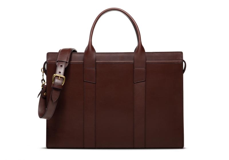 Zip-Top Briefcase-Chocolate-Double in