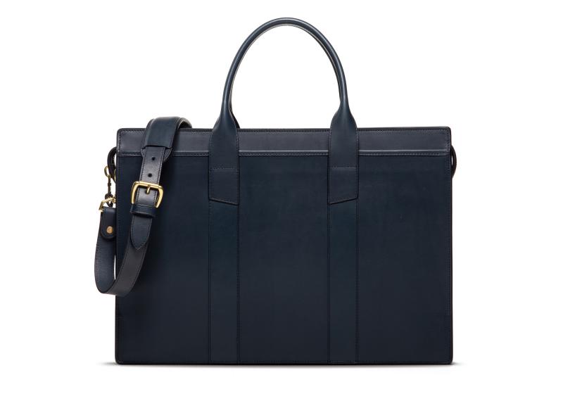 Zip-Top Briefcase-Double-Navy in