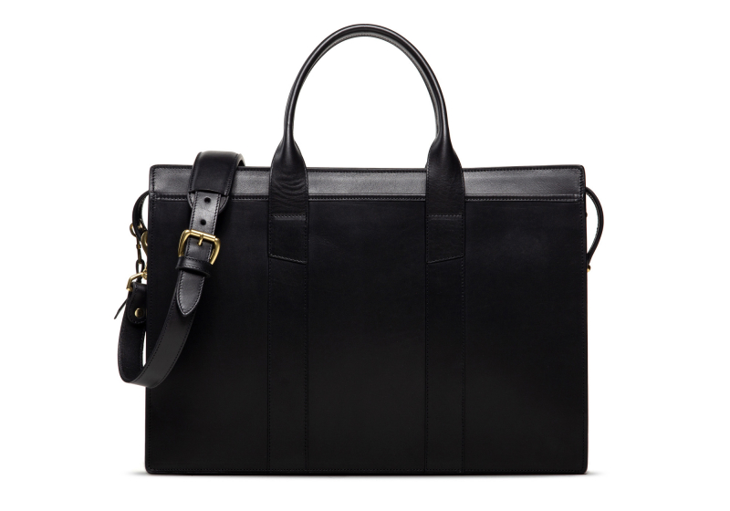 Zip-Top Briefcase-Black-Single in
