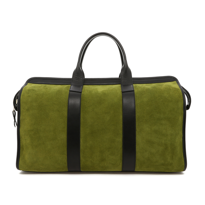 Signature Travel Duffle - Loden Green/Black - Suede in