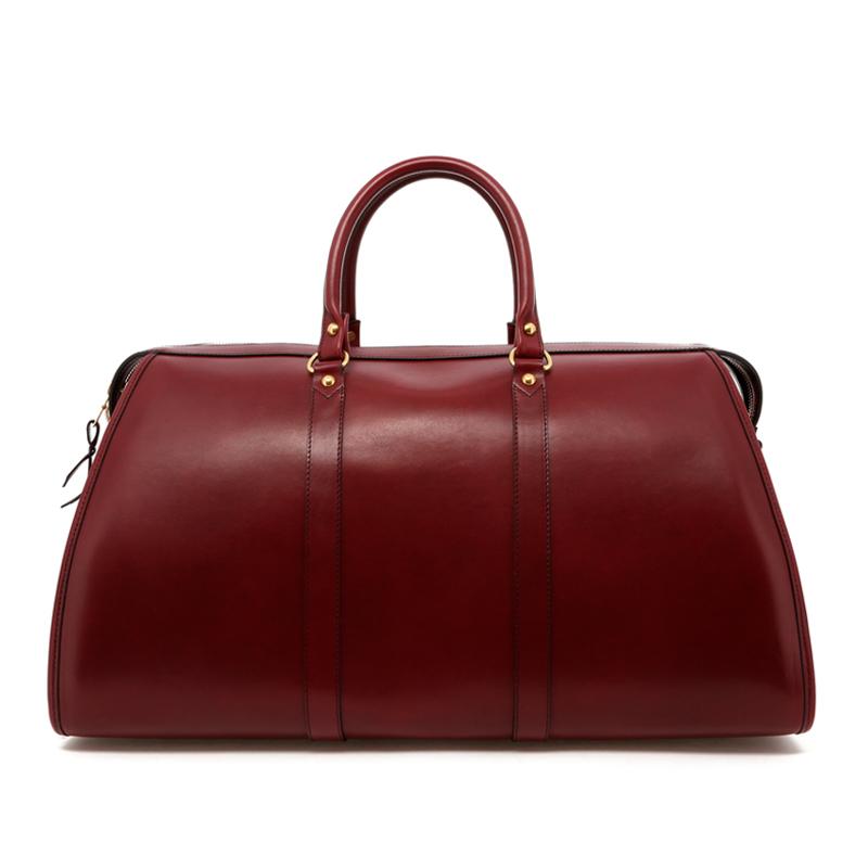 Hampton Duffle - Maroon - Belting Leather in