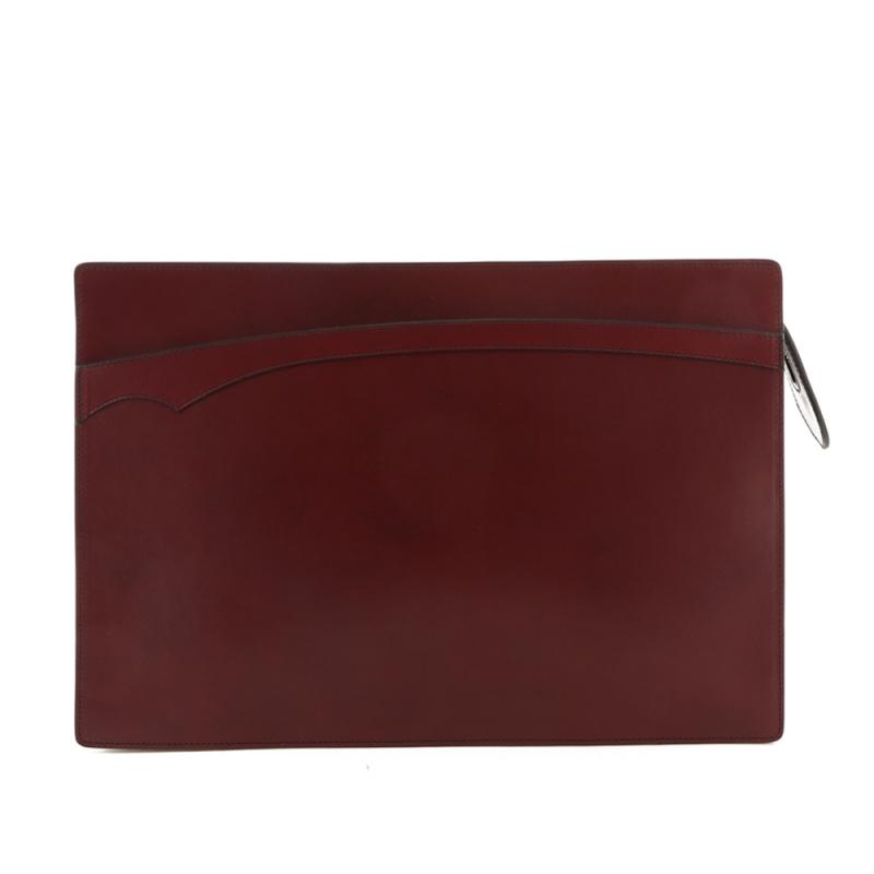 Zipper Portfolio - Maroon - Belting in