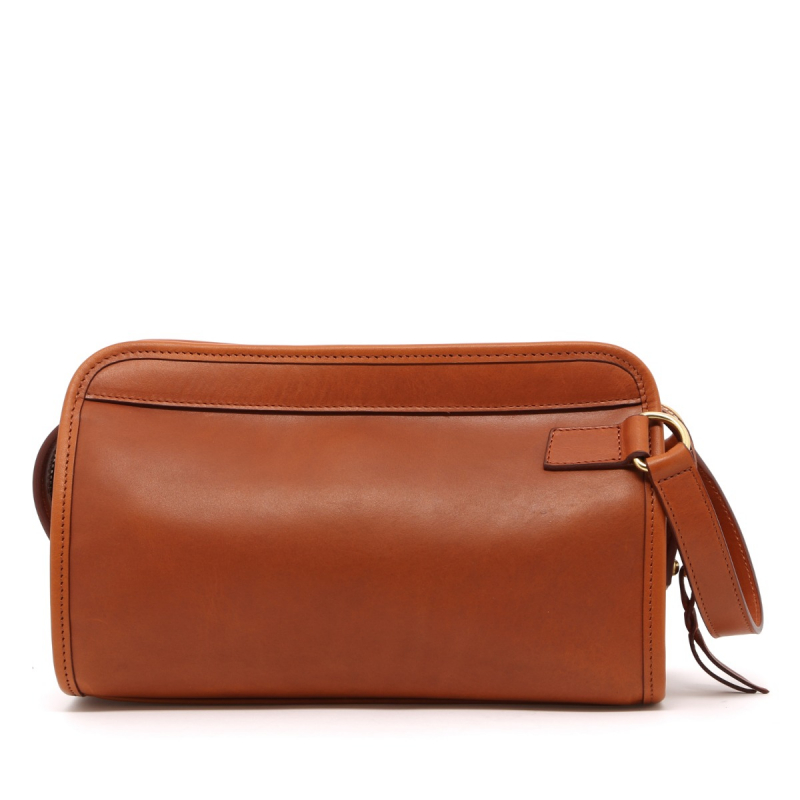 Small Travel Kit - Cognac - Pull Up Leather in