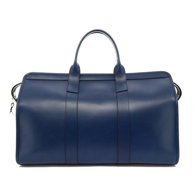 Signature Travel Duffle - Midnight - Olive Interior - Belting Leather in