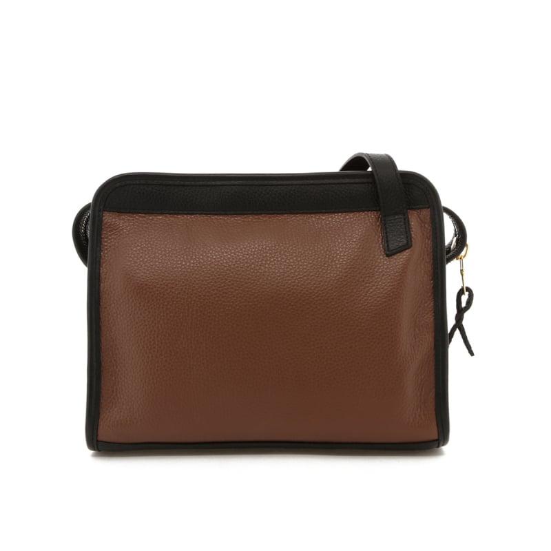 Blazer Bag - Milk Chocolate/Black - Pebbled Leather in