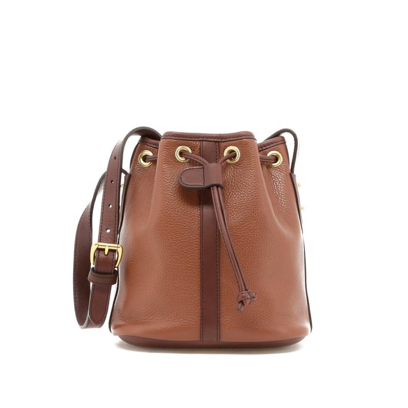 Mini Bucket Bag - Milk Chocolate/Chocolate - Pebbled Leather in