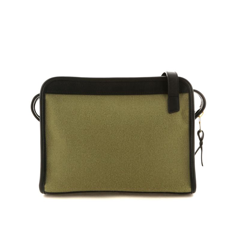 Blazer Bag - Moss Green/Black Leather Trim - Felt - Grey Cordura Lining in