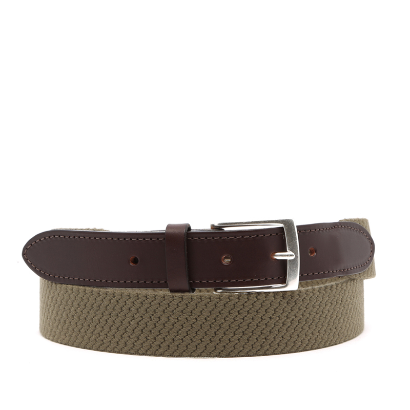 Woven Wool Stretch Belt in solid_wool