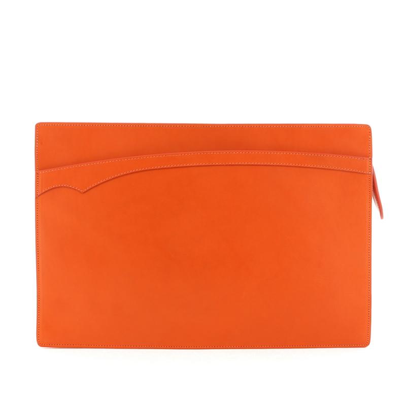 Zipper Portfolio - Orange - Belting in