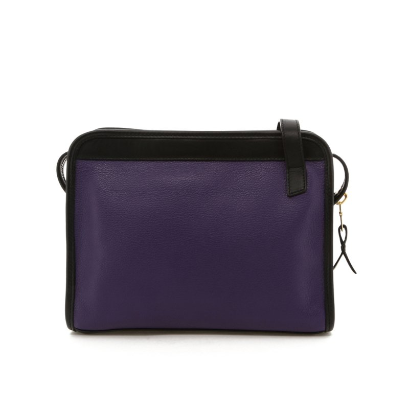 Blazer Bag - Purple/Black Trim - Goatskin in