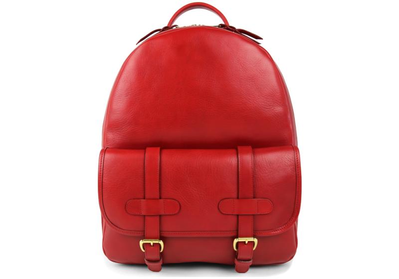 Zipper Backpack-Red in