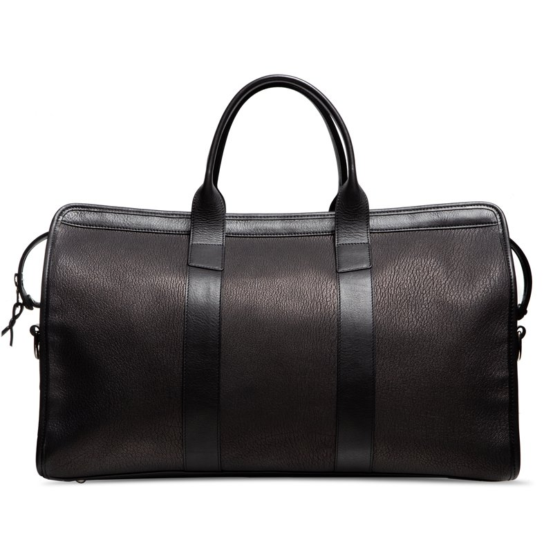 Chèvre Signature Duffle-Black in Goat Skin