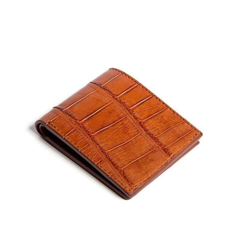 The Slim Wallet  in American Alligator