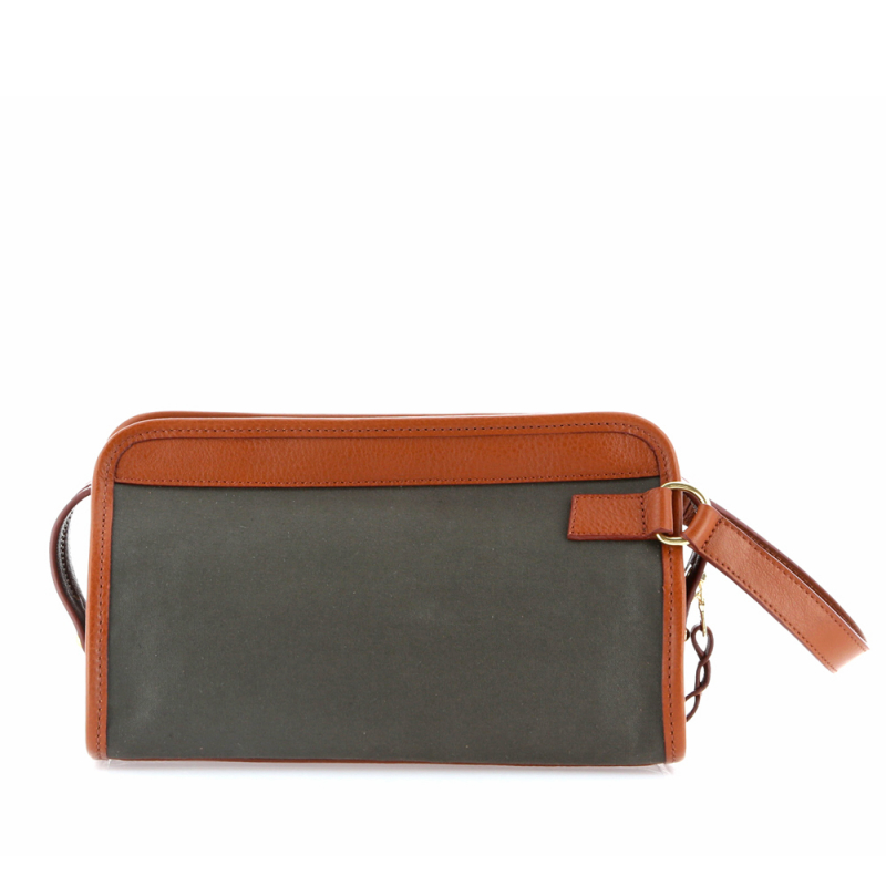 Small Travel Kit - Olive/Cognac - Canvas in