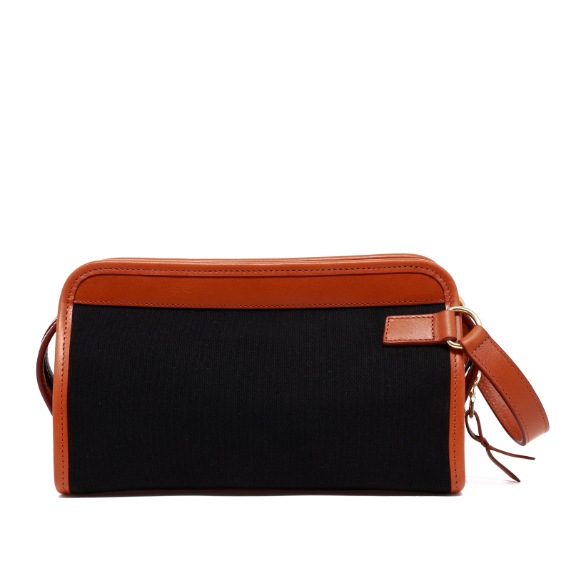 Small Travel Kit - Black/Cognac - Canvas in
