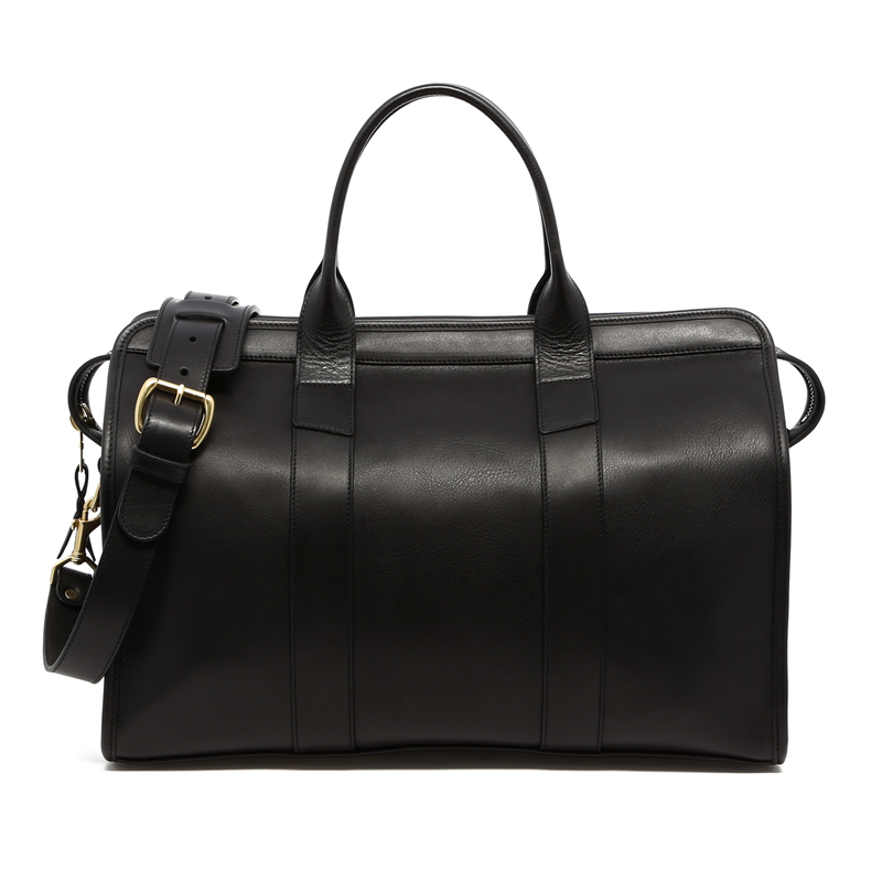 Small Travel Duffle -Black-Sunbrella Lining with Pocket in
