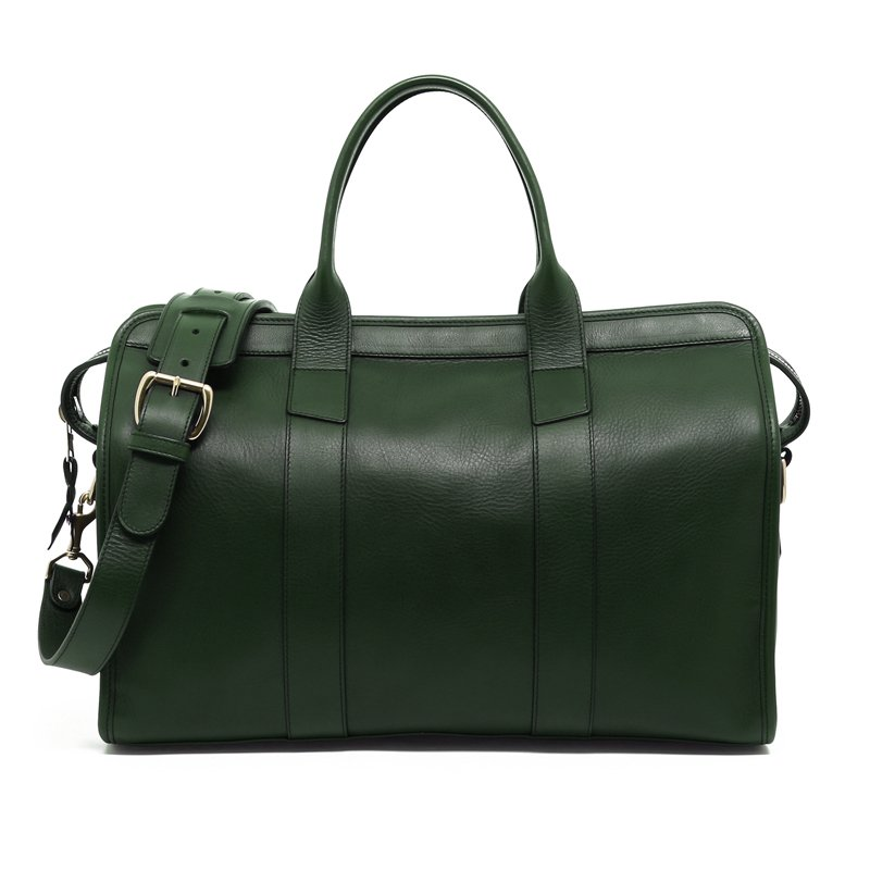 Small Travel Duffle -Green-Sunbrella Lining with Pocket in