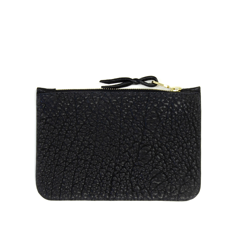 Small Zipper Pouch Black Bison in