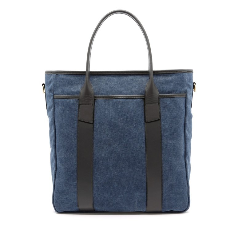 Commuter Tote - Stone Wash Denim/Grey - Canvas in