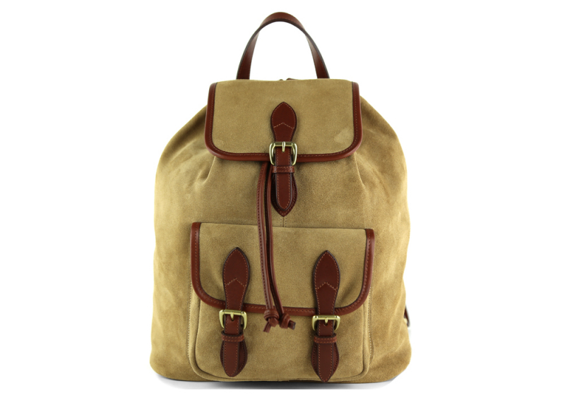 Suede Classic Backpack -Sand/Chestnut in