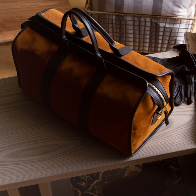 Suede Travel Duffle  in Suede