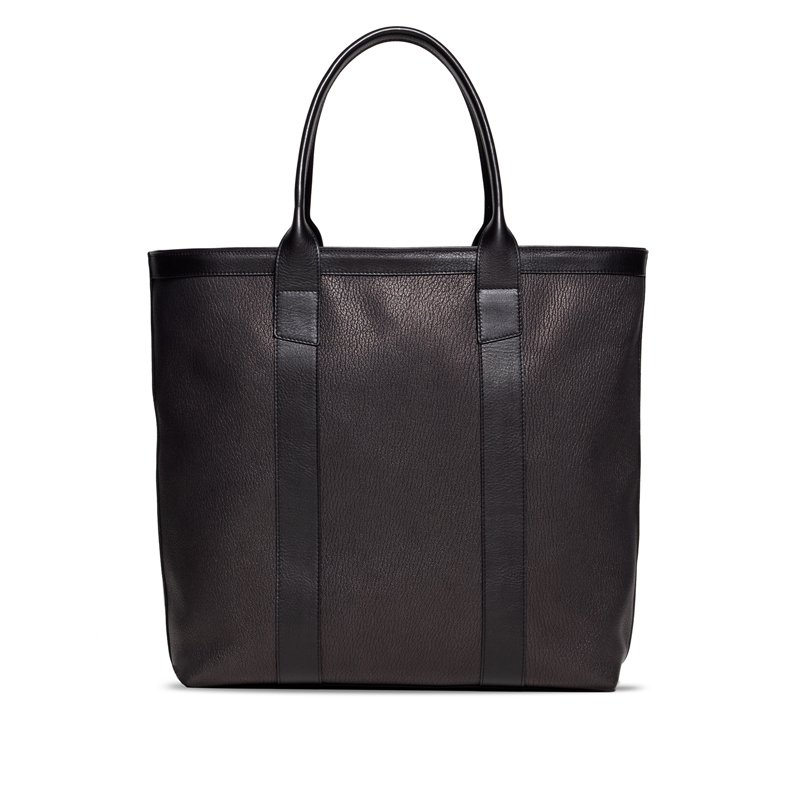 Chèvre Tall Tote -Black in Goat Skin