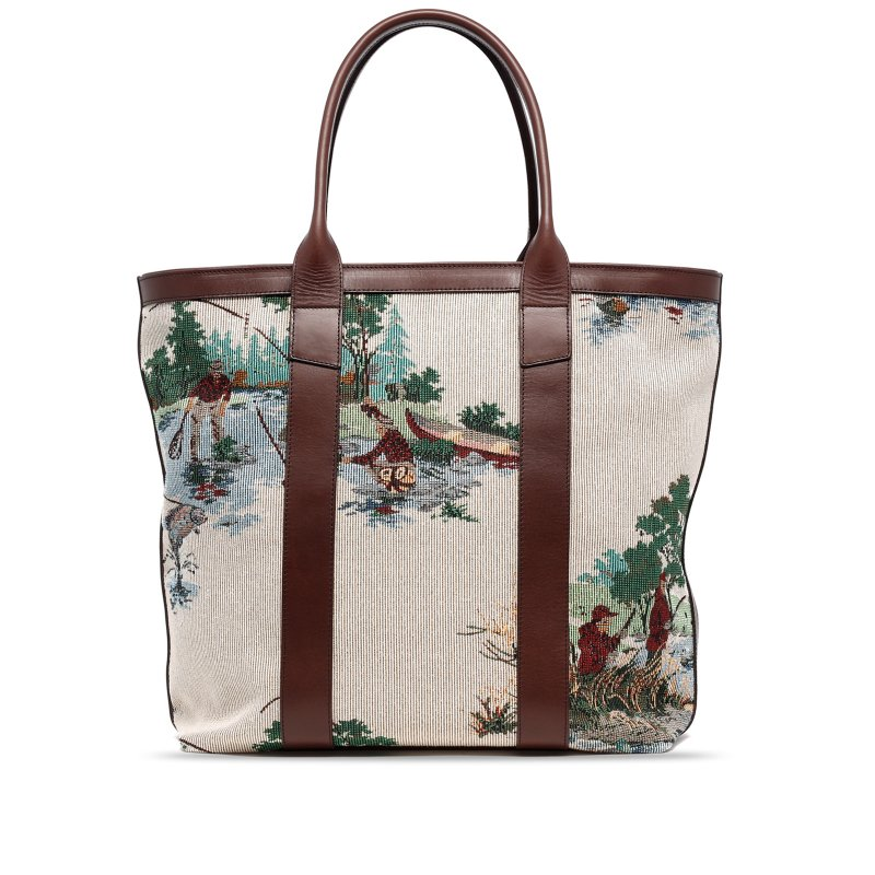 Tall Tote - Outdoors Scene- Zipper Top - Tapestry  in