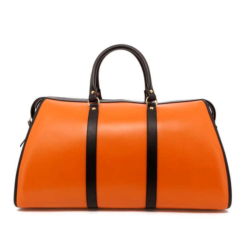 Hampton Duffle - Tan/Black Trim - Belting Leather in