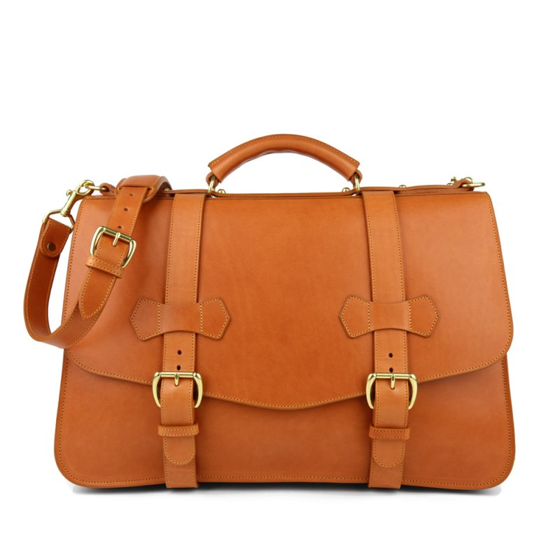 leather buckle briefcase