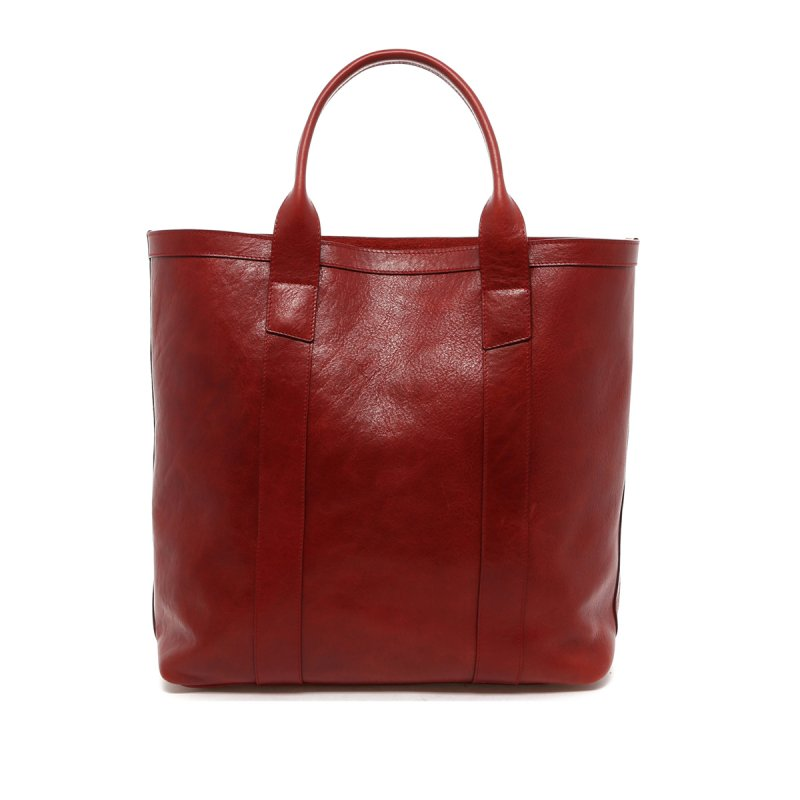 Tall Tote - Washed Rosewood Red - Shorter Handles in