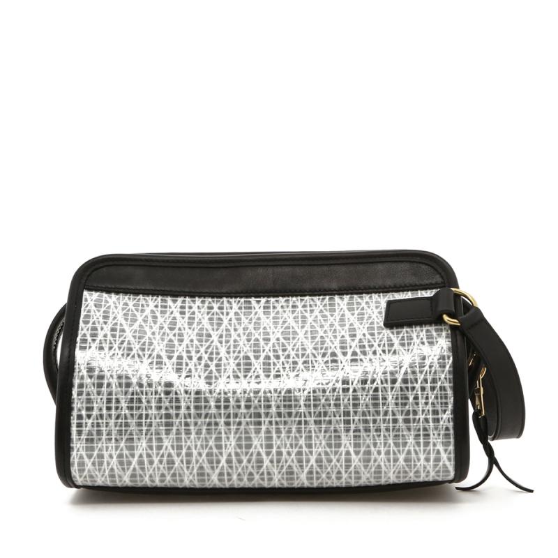 Small Travel Kit - White/Black Trim - Grey Interior - Weaved Sail Cloth in