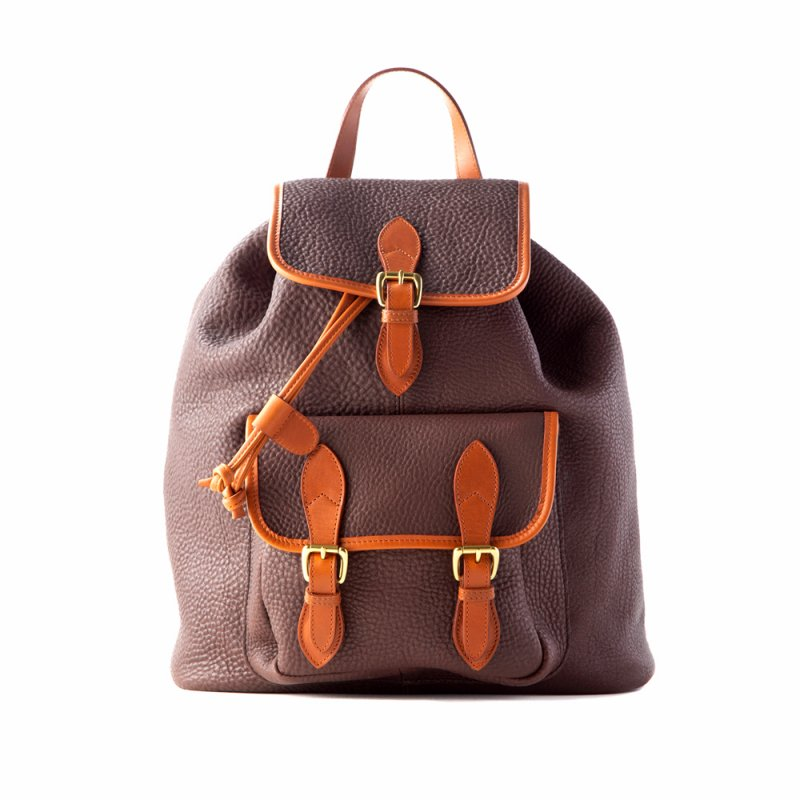 Classic Backpack - Chocolate/Cognac - Pebble Grain Leather