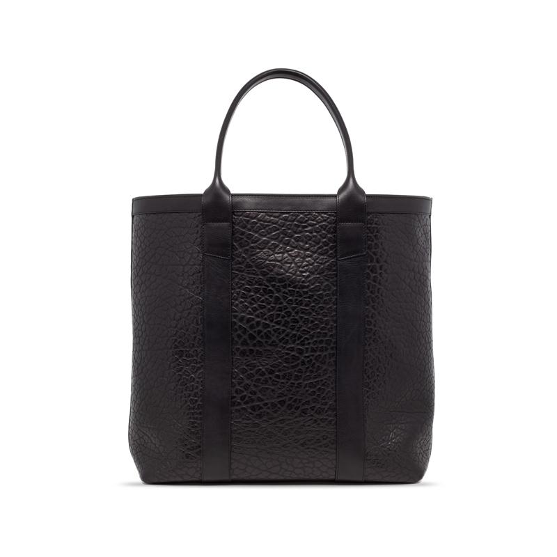 Tall Tote-Black in Shrunken Grain Leather