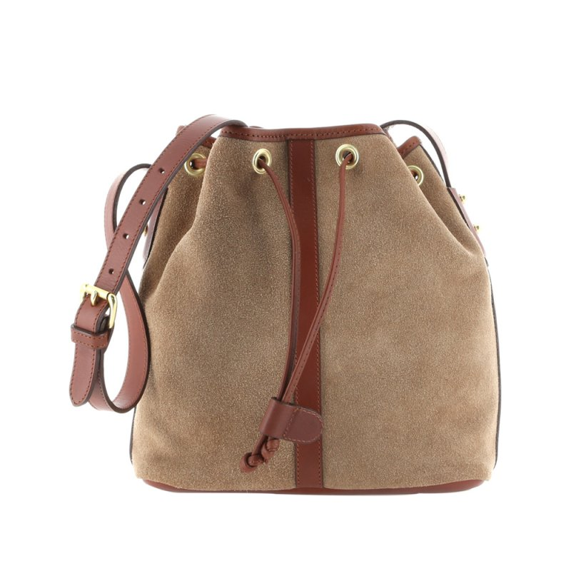 Bucket Bag - Sand/Chestnut - Suede