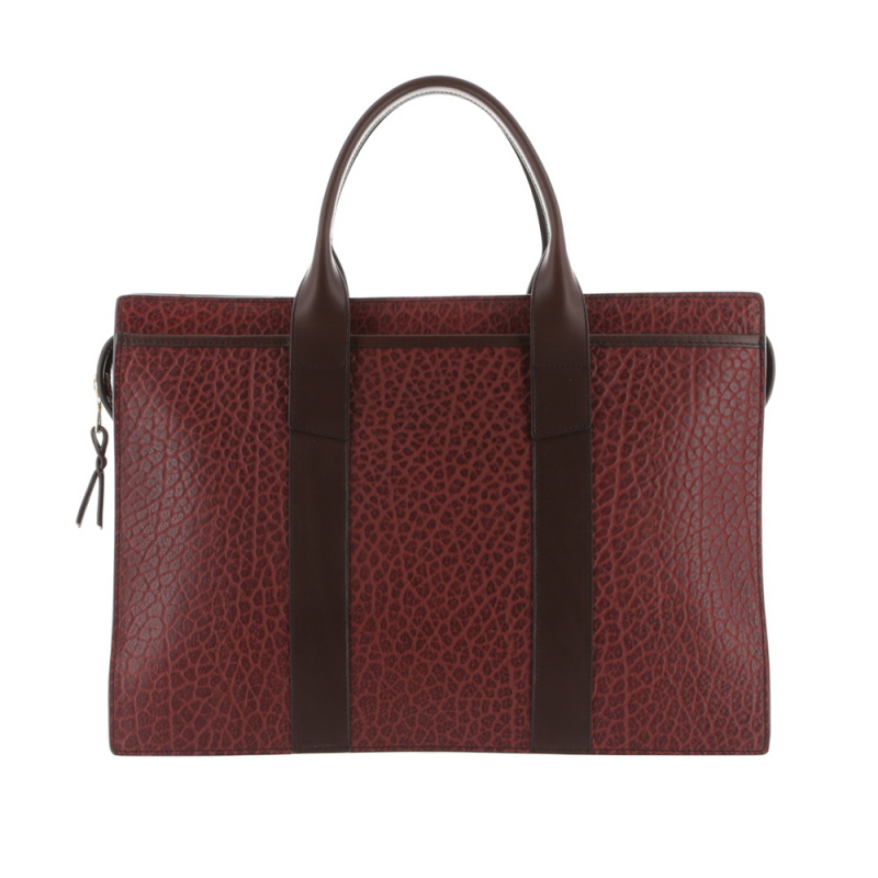 Double Zip-Top - Maroon/Chocolate - Shrunken Grain Leather