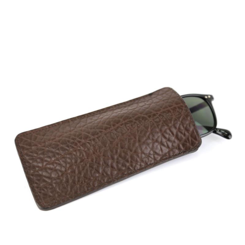 Eye Glass Case in Shrunken Grain Leather