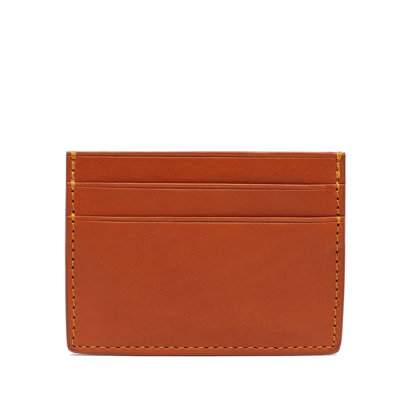 Double Mini Card Wallet in Smooth Tumbled Leather