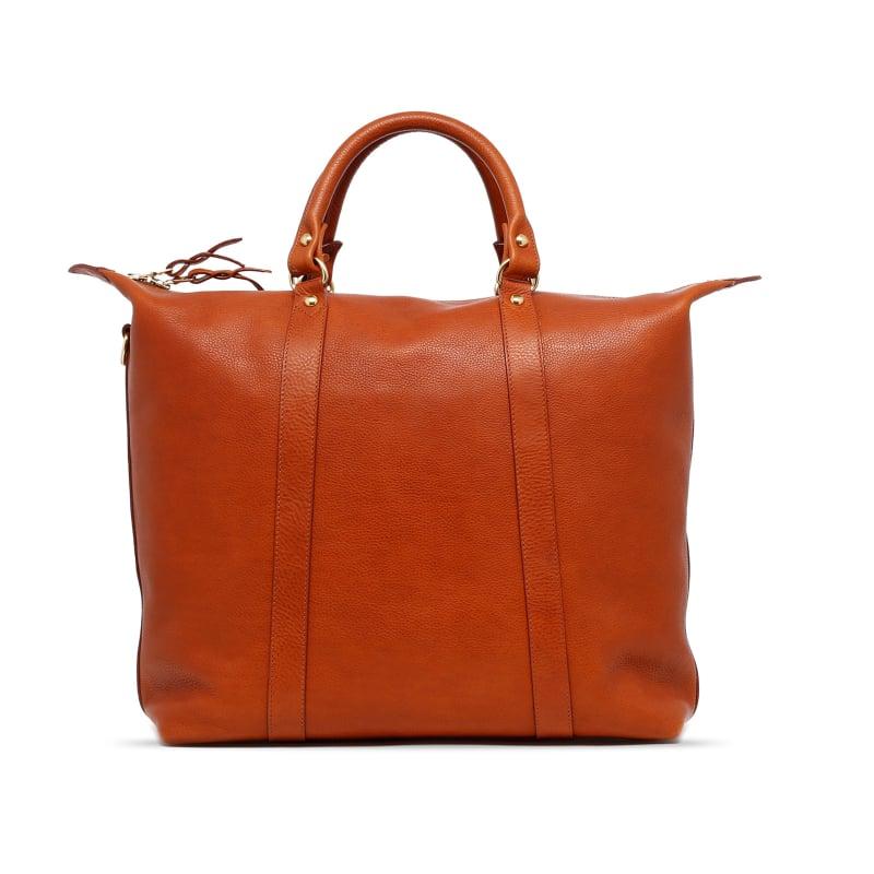 Hampton Tote - Cognac - Pebbled Tumbled Leather in