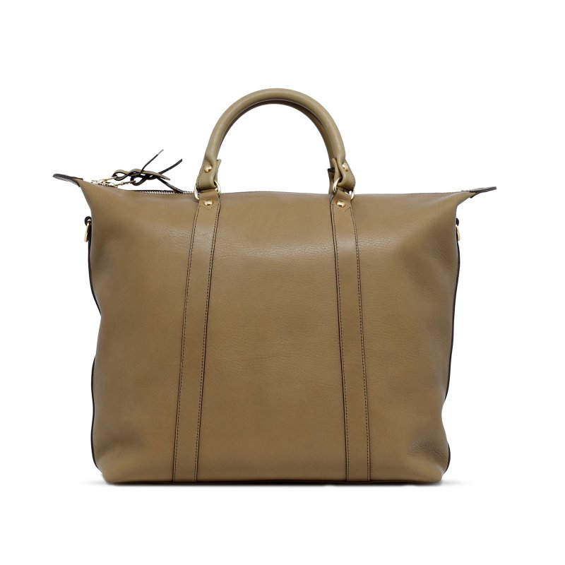 Hampton Tote - Moss - Supple Tumbled Leather