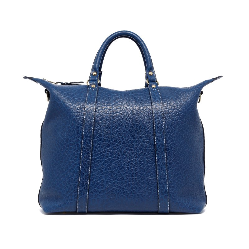 Hampton Tote - Deep Royal Blue - Shrunken Grain Leather